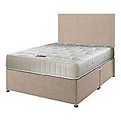 Happy Beds Ortho Royale Mattress Divan Bed Set Plain Headboard Cream