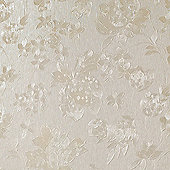 Superfresco Floral Silk Cream Shimmer Wallpaper