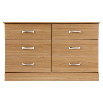 Tenby 6 Drawer Chest, Oak Effect
