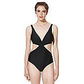 F&F Cut-Out Wrap Swimsuit - Black