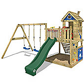 WICKEY Climbing frame Smart Lodge 120 with playhouse, swing and slide