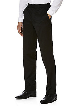 F&F Regular Fit Trousers - Black
