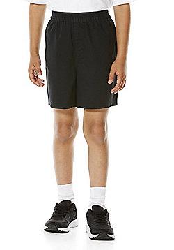 F&F School 2 Pack of Boys Sports Shorts - Black