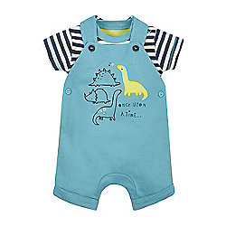 dafcbe40fcdee B Dinosaur Dungarees and Bodysuit Onesie Set Size Up to 3 mnths - 14.5lbs  Catalogue Number  486-5943