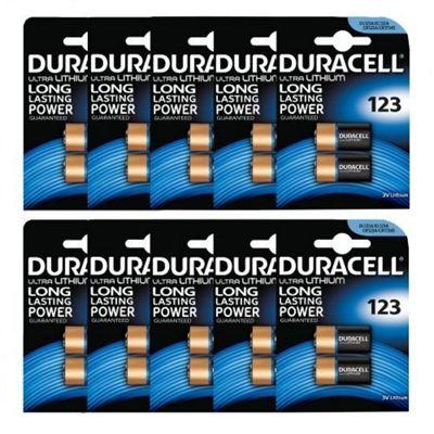 20 x Duracell CR123A CR123 123 3v Lithium Photo Battery