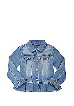 F&F Frill Hem Denim Jacket - Denim blue