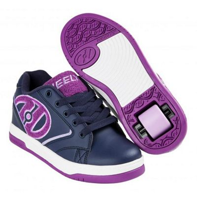 Heelys Propel Terry Navy/Grape Terry Logo Kids Heely Shoe JNR 12