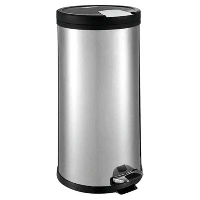 Tesco 30L Stainless Steel Pedal Kitchen Bin