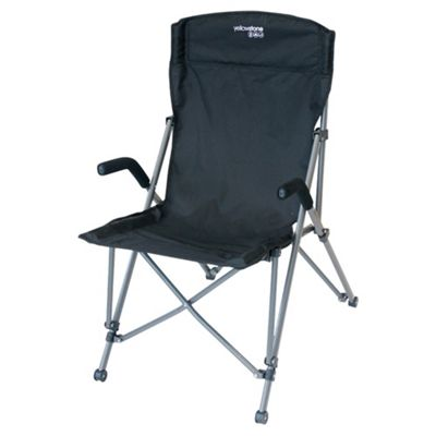 Yellowstone Ranger Folding Camping Chair, Black