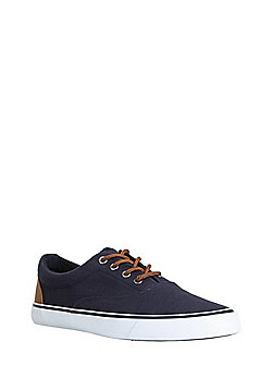 F&F Oxford Lace-Up Plimsolls - Navy