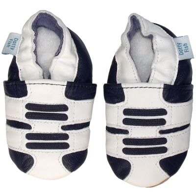 Soft leather baby shoes blue /& grey trainers