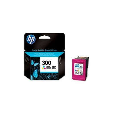 HP 300 Tri-Colour Ink Cartridge with Vivera Inks (Yield 165 Pages)