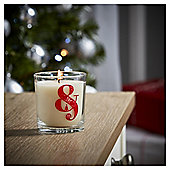 Tesco Alphabet Christmas Filled Candle Jar Ampersand