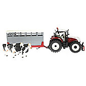 Steyr Tractor With Livestock Trailer