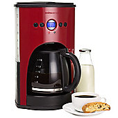 Andrew James 1100W Automatic Filter Coffee Machine in Red
