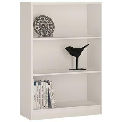Kensington Medium Wide Bookcase Pearl White