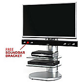 Origin II S4 Silver Cantilever TV Stand - With Free Soundbar Bracket