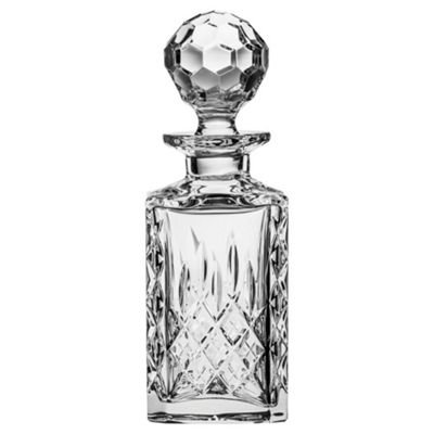 Royal Scot Crystal London Single Malt Square Crystal Spirit Decanter 450ml
