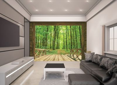 Walltastic Woodland Forest Wall Mural 8 ft x 10 ft