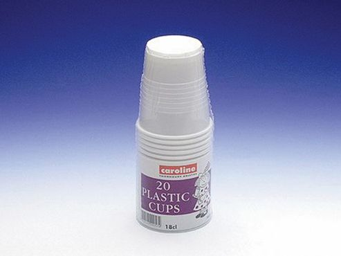 Caroline 1601 Plastic Cups 7ozx20