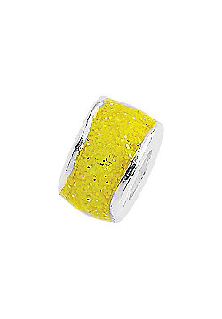 Amore & Baci Junior Yellow Glitter Candy Bead