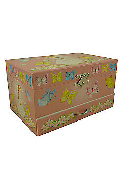 Kids Jewellery Boxes, Children's Musical Jewellery Boxes, Girls Jewellery Boxes - Lily Butterfly