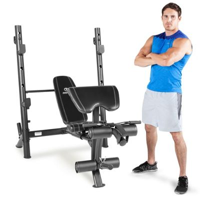 Marcy MD-867W Diamond Weight Bench with Mid-Width Rack