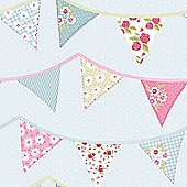 Bunting Wallpaper - Blue - 238709