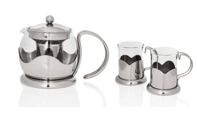 Sabichi Glass Teapot & Mug Set