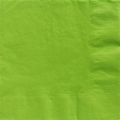 Lime Green Dinner Napkins - 2ply Paper - 50 Pack