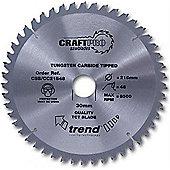 Trend - Craft saw blade crosscut 215mm x 60 teeth x 30mm - CSB/CC21560
