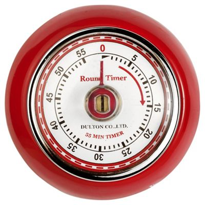 Eddington 850091 Retro Magnetic Timer Red