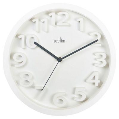 Acctim Logann White 33Cm Wall Clock