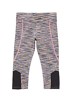 F&F Active Space Dye Cropped Leggings - Multi