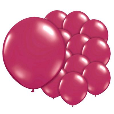 Antique Red 5 inch Latex Balloons - 100 Pack