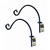 Metal Blacksmith Curved Hanging Basket Brackets (Set of 2) by Gardman