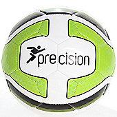 Precision Santos Training Ball White/Lime Green/Black Size 5