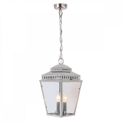 Polished Nickel Chain Lantern - 3 x 60W E14