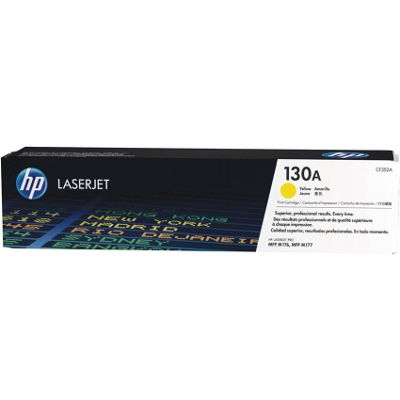 HP 130A (Yield 1,000 Pages) Yellow Original LaserJet Toner Cartridge