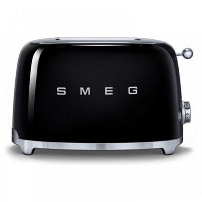 Smeg TSF01BLUK | 50's Retro Style 2 Slice Toaster in Black