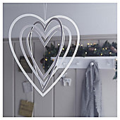 Weiste Wooden Heart Mobile Christmas Hanging Decoration