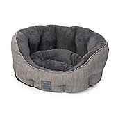Grey Hessian Dog Bed - Small