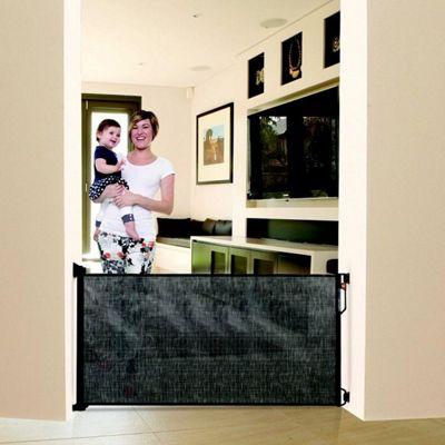 Dreambaby Retractable Stair Gate Black