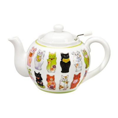 Orientis Gourmet Dolly Cat Porcelain Teapot With Filter 1L 60130