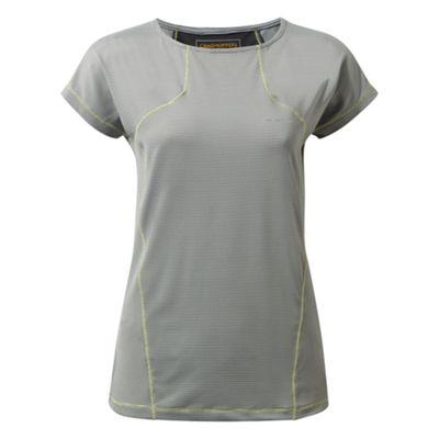 Craghoppers Ladies Fusion Short Sleeve T-Shirt Platinum 16