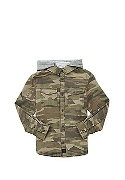 F&F Camo Borg Lined Jacket - Green