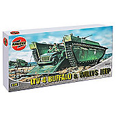 LTV 4 Buffalo & Willys Jeep (A02302) 1:76