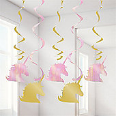 """Unicorn Sparkle Hanging Swirls - 39"""""""