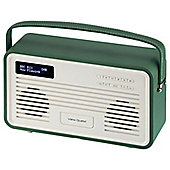 View Quest Retro ColourGen DAB+/FM Radio with iPod Dock (Emerald Green, 8 Pin)