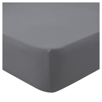 Tesco Cotton Grey King Size Fitted Sheet